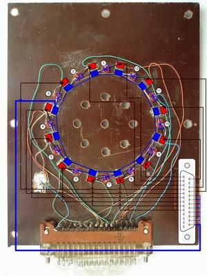 Проекция схемы на панель.